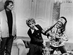 Richard Burton, Lucille Ball, and Taylor in the sitcom Here's Lucy, 1970