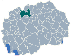 Greater Skopje among the municipalities of North Macedonia.