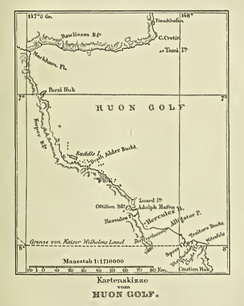 Map of Huon Gulf