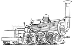 The steam locomotive Middlesbrough introduced in 1839