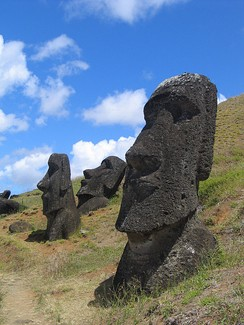 Most of the moais in Easter Island are carved out of tholeiite basalt tuff.