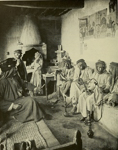 A coffee house in Mosul, 1914.