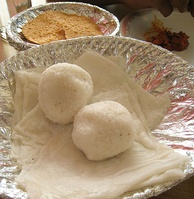 Neer dosa, a variant of dosa and pundi (rice ball), are native to Mangalore