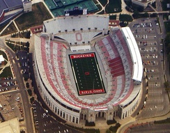 Ohio Stadium in Columbus, home to the Ohio State Buckeyes football team, is the fifth largest stadium in the world.