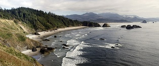 Southward view from Ecola State Park, Northern Oregon Coast