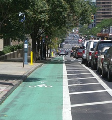 Bike lane on First Avenue