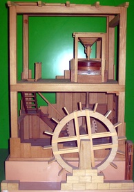 Reconstruction of Vitruvius' undershot-wheeled watermill