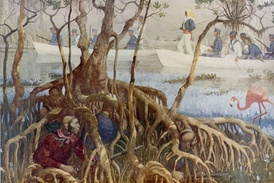 U.S. Marines searching for the Indians during the Seminole War
