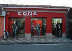 A shop named CONS Jeans in the Albanian city of Shkodra. 2008.