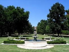 South Oval with Bizzell Library in the background