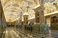 The Sistine Hall of the Vatican Library.