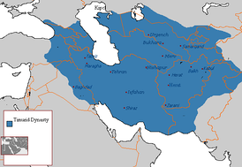 A map of the Timurid Empire.