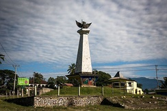 Monument with the National emblem of Indonesia in Viqueque (2016)