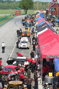Pit road during 2008 Grand-Am race