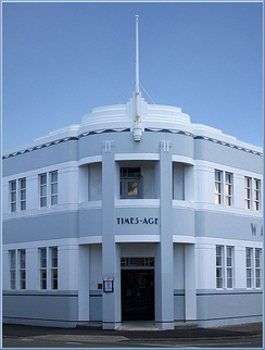The Wairarapa Times-Age's Art Deco-inspired headquarters in Masterton