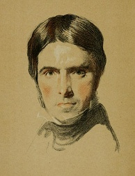 Watercolor sketch of Thomas Carlyle, age 46, by Samuel Laurence