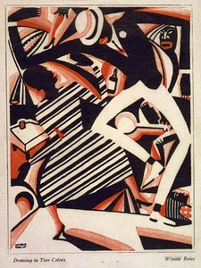 Interpretation of Harlem Jazz I by Winold Reiss (c.1920)