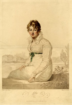 "In a letter to Cassandra dated May 1813, Jane Austen describes a picture she saw at a gallery which was a good likeness of ""Mrs. Bingley"" – Jane Bennet. Deirdre Le Faye in The World of Her Novels suggests that ""Portrait of Mrs. Q"" is the picture Austen was referring to. (pp. 201–203)"