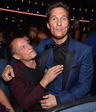 Harrelson (left) and McConaughey (right) at the 66th Primetime Emmy Awards.