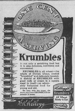 1917 advertisement for Krumbles