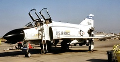194th Fighter-Interceptor Squadron McDonnell F-4D-26-MC Phantom II, AF Ser. No. 65-0588, now on static display at Fresno Air National Guard Base.
