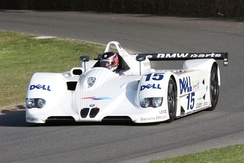The winning #15 BMW V12 LMR