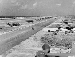 30th Bombardment Group B-24 Liberators at Kwajalein Airfield, Kwajalein, Marshall Islands, 1944