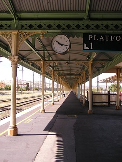 As originally New South Wales and Victoria had different railway gauges, this meant that all travellers in either direction had to change trains at Albury. To accommodate these changes, a very long railway platform was needed; the covered platform is one of the longest in Australia.