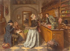 The retail service counter was an innovation of the eighteenth century