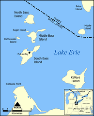Partial map of the Lake Erie Islands