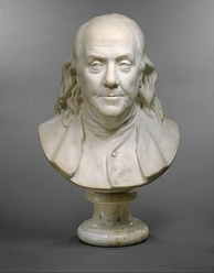 A bust of Franklin by Jean-Antoine Houdon, 1778
