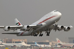 Dubai Royal Air Wing is the main airline operating from the VIP Pavilion.