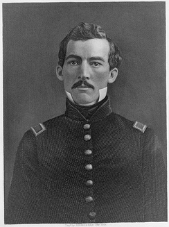 Brevet Second Lieutenant Philip Sheridan engraving by H. B. Hall
