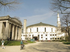 The Great Mosque of Brussels is the seat of the Islamic and Cultural Centre of Belgium