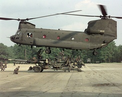 Boeing CH-47 Chinook is the most common dual rotor helicopter deployed today