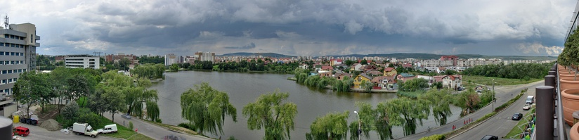 View of Gheorgheni Lake and Iulius Park