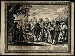 A village country dance - engraving by Abraham Bosse, 1633.