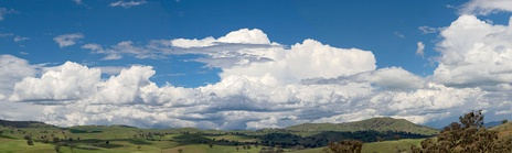 Cumuliform cloudscape over Swifts Creek, Australia