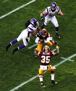 Washington concedes an interception against Minnesota in week 12