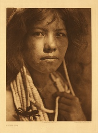 Pomo girl c. 1924, by Edward S. Curtis' from The North American Indian volume 14.