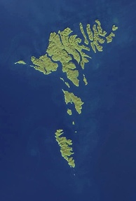 NASA satellite image of the Faroe Islands