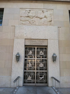 Federal Trade Commission entrance doorway in Washington, DC