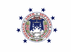 The former flag of the U.S. Secretary of the Treasury, originating from the 19th century.