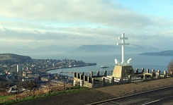 The Free French Memorial, looking out over the Firth of Clyde