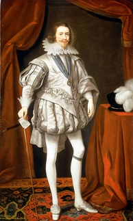 Villiers as Lord High Admiral, a portrait by Daniel Mytens the Elder, 1619