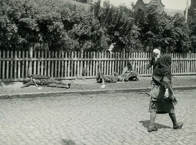 Starved peasants on a street in Kharkiv, 1933