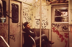 Graffiti became a notable symbol of declining service during the 1970s.