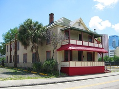 Jackson Rooming House in Tampa, accommodated African-Americans during the era of racial segregation in Central Florida. The hotel played host to prominent figures such as Count Basie, Cab Calloway, James Brown, Ella Fitzgerald, and Ray Charles.
