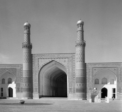 The Friday Mosque of Herat is one of the oldest mosques in Afghanistan. (March 1962 photo)