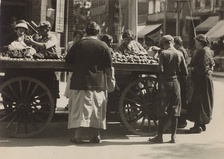 Toronto's Jewish market in 1924. In that era the Jewish community, largely composed of recent immigrants, was concentrated in the impoverished area known as The Ward.